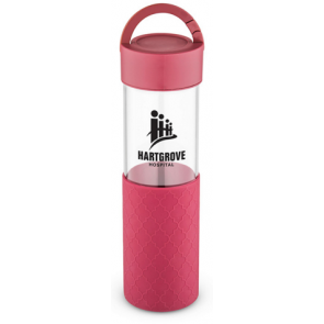 24 oz Mia Serenity Glass Water Bottles - Red