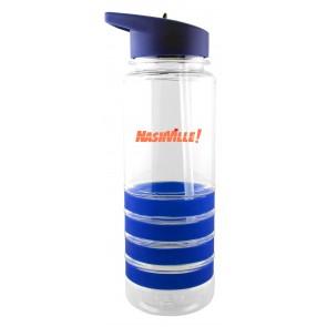 The San Clemente Gripper Water Bottles-Blue