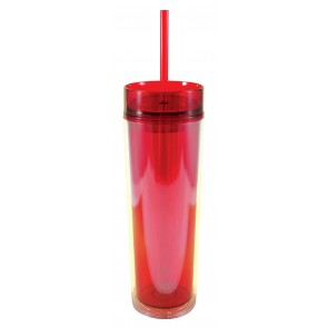 Slender Sip Tumblers | 16 oz - Red