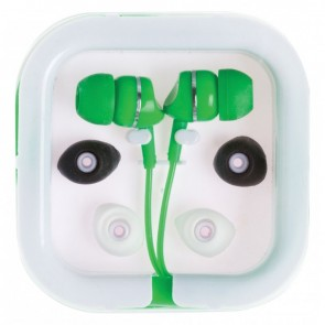 Printed Extended Ear Phones - Green