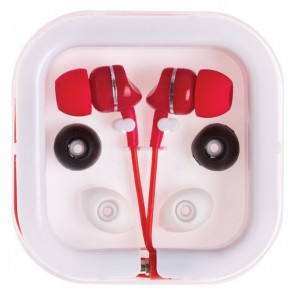 Printed Extended Ear Phones - Red