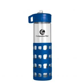 Sip-N-Go Glass Water Bottles | 20 oz - Blue