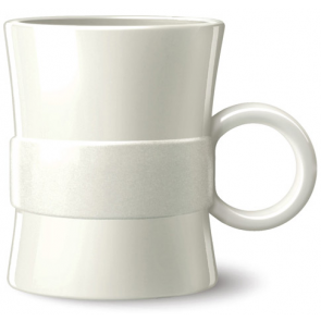 14 oz Loop BPA Free Plastic Mugs - White
