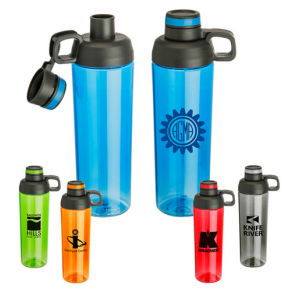 Personalized Logo Water Bottles - 30 oz Zuma Double Opening Tritan Water Bottle