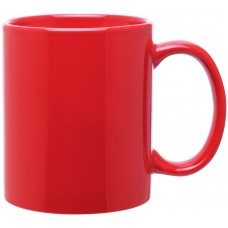 Red 11 oz c-handle mugs-glossy