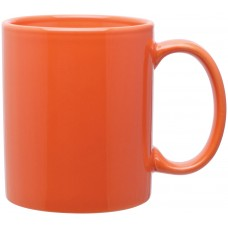 orange 11 oz c-handle mugs-glossy