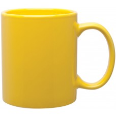 yellow 11 oz c-handle mugs-glossy