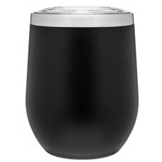 Black 12 oz Powder Coated Thermal Tumblers