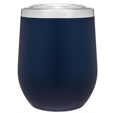 Blue 12 oz Powder Coated Thermal Tumblers