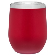 Red 12 oz Powder Coated Thermal Tumblers