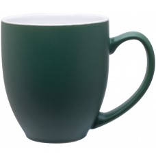Green 15 oz bistro mugs - 2 tone_matte green / glossy white