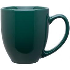 glossy green 15 oz bistro mugs
