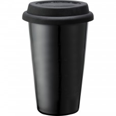 Black Branded Black Ceramic Tumblers | 11 oz