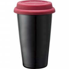 Red Branded Black Ceramic Tumblers | 11 oz