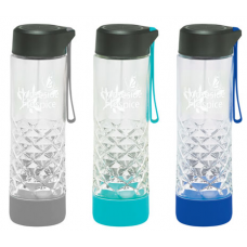 20 oz Geometric Glass Water Bottle