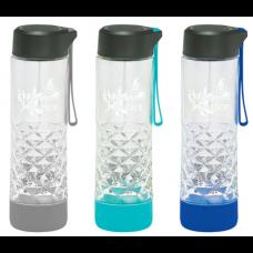 20 oz Geometric Glass Water Bottle
