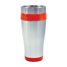 Orange Coronado Tumblers | 16 oz - Silver with Orange Liner