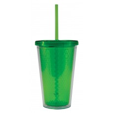 Lime Green Freedom Facet Tumblers | 16 oz
