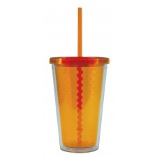Orange Freedom Facet Tumblers | 16 oz