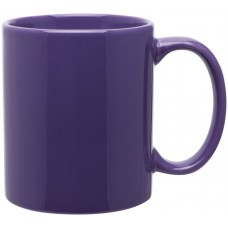 glossy purple 11 oz c-handle mugs
