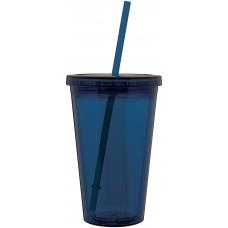Blue 16 oz spirit tumbler-indigo blue