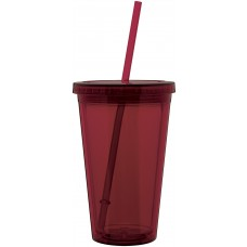 Red 16 oz spirit tumbler-merlot