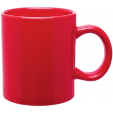 Red 20 oz c-handle mugs - glossy