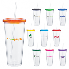 20 oz spirit tumbler with color lid