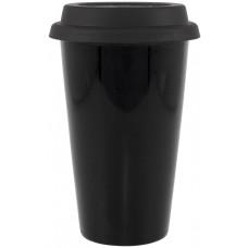 Black 11 oz terra with black lid