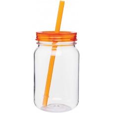 Orange H2Go Tritan Mason Jar | 25 oz - Tangerine