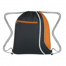 Orange Custom Logo Drawstring Sports Pack