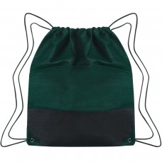 Forest Green Custom Drawstring Sports Pack -