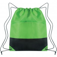 Lime Green Custom Drawstring Sports Pack