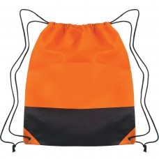 Orange Custom Drawstring Sports Pack