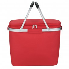 Red Custom Picnic Fun Collapsible Kooler Basket