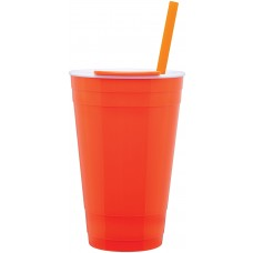 Neon Orange The Player Acrylic Cup | 16 oz