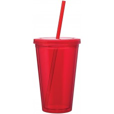 Red 16 oz spirit tumbler