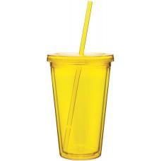 Yellow 16 oz spirit tumbler-pineapple