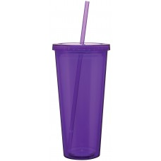 Purple Double Wall Acrylic Spirit Tumblers | 20 oz
