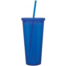 Blue Double Wall Acrylic Spirit Tumblers | 20 oz