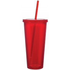 Red Double Wall Acrylic Spirit Tumblers | 20 oz