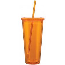Orange Double Wall Acrylic Spirit Tumblers | 20 oz - Tangerine