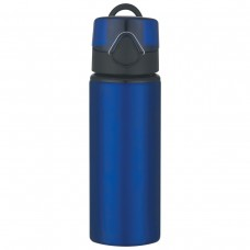 Blue Aluminum Sports Bottles With Flip Top Lid | 25 oz