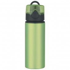 Lime Green Aluminum Sports Bottles With Flip Top Lid | 25 oz