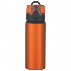Orange Aluminum Sports Bottles With Flip Top Lid | 25 oz