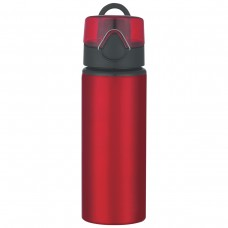 Red Aluminum Sports Bottles With Flip Top Lid | 25 oz