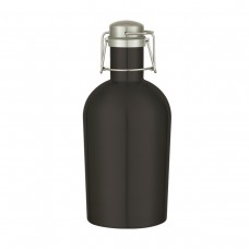 Black 64 oz Stainless Steel Growler - Matte Black