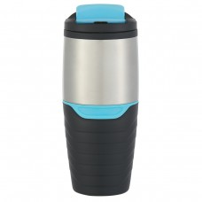 Blue Stainless Steel Tumblers With Flip Lock Lid | 16 oz