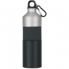 Black Two-Tone Aluminum Bottles With Rubber Grip | 25 oz