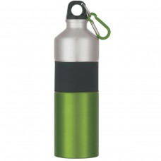 Green Two-Tone Aluminum Bottles With Rubber Grip | 25 oz